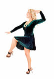 Dancing young woman. Stock Image