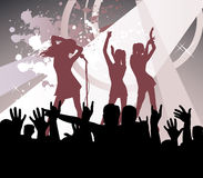 Dancing young women Stock Images