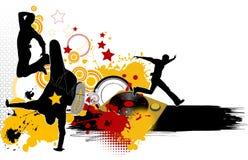 Dancing youth men. Stock Image