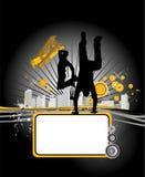 Dancing youth men. Music city. Vector illustrtion with dancing youth men. Music city Stock Images