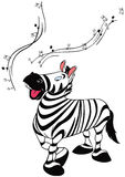 Dancing zebra Stock Images