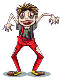 A dancing zombie. Illustration of a dancing zombie on a white background stock illustration