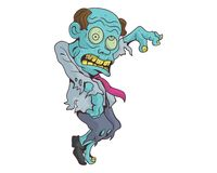 Dancing zombie vector illustration