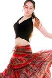 dancingowa akci dziewczyna Zdjęcie Royalty Free