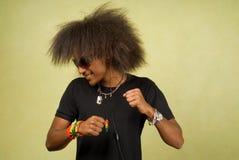 dancingowa Amerykanin afrykańskiego pochodzenia samiec Zdjęcie Stock