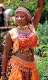 dancingowa brzuch dziewczyna Fotografia Stock