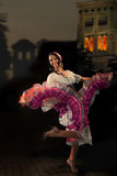 Dancingowa Cygańska dziewczyna Obraz Royalty Free