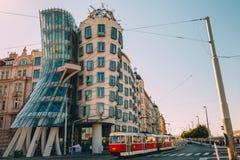 Dancingowa domowa nowożytna architektura w Praga, czech Obraz Royalty Free