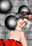 dancingowa dyskoteki modela muzyka target273_0_ ilustracji