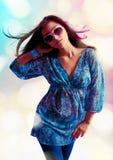 dancingowa dziewczyna Obrazy Royalty Free