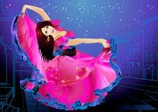 dancingowa dziewczyna Obraz Stock