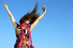 dancingowa dziewczyny portreta ulica Zdjęcie Royalty Free