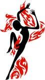 dancingowa energiczna postać Obraz Royalty Free