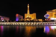 dancingowa fontann las noc Vegas Fotografia Stock