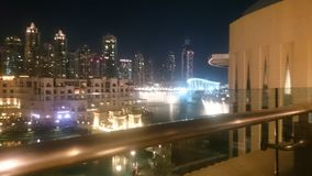 Dancingowa fontanna Dubaj Obrazy Stock
