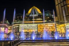 Dancingowa fontanna Przy ICONSIAM buduje Thailand zdjęcie stock