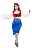 dancingowa grka kucnięcia kobieta Zdjęcie Royalty Free