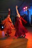 Dancingowa grupa Hiszpański flamenco taniec Zdjęcia Stock