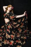 dancingowa kobieta Obrazy Royalty Free