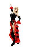 dancingowa kobieta Obraz Royalty Free