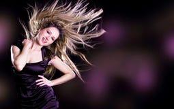 dancingowa kobieta Zdjęcia Royalty Free