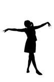 Dancingowa kobiety sylwetka obrazy stock