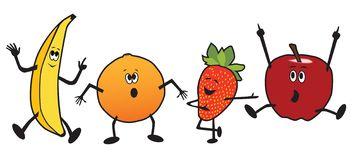 Dancingowa kreskówki owoc ilustracji