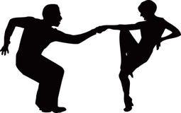 Dancingowa para Fotografia Stock