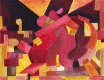 Dancingowa para w abstrakta stylu ilustracja wektor