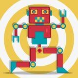 Dancingowa retro robot czerwień Obraz Stock