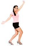 dancingowa szczęśliwa kobieta zdjęcie stock