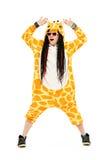 Dancingowa żyrafa Fotografia Stock