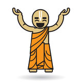 Dancingowa Zajęcza Krishna mężczyzna ikona Zdjęcia Royalty Free