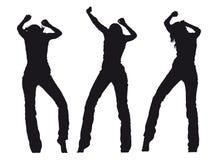 dancingowe dziewczyny Obrazy Royalty Free
