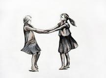 dancingowe dziewczyny Zdjęcie Stock