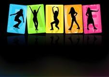 Dancingowe dziewczyny Fotografia Royalty Free