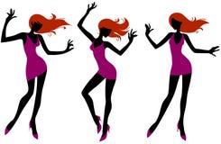 dancingowe dziewczyny Obrazy Stock