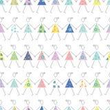 Dancingowe dziewczyny w kolorowym sukni tle Zdjęcia Royalty Free