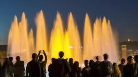 10 02 2017 Dancingowe fontanny w Barcelona Timelaps wideo zbiory