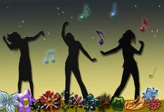 dancingowe kobiety Obrazy Stock