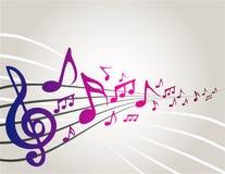 dancingowe muzyczne notatki Fotografia Royalty Free
