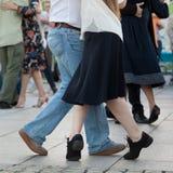 Dancingowe pary zdjęcia royalty free