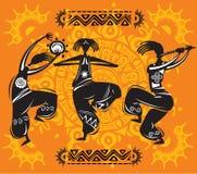 dancingowe postacie Obrazy Stock