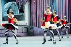 Dancingowe princess dziewczyny zdjęcie royalty free
