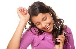 dancingowej dziewczyny latynoski słuchający musi dosyć Zdjęcia Royalty Free