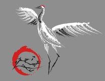 Dancingowi żurawie 6 royalty ilustracja