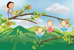 Dancingowi aniołowie ilustracji