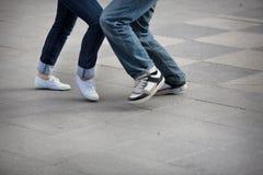 dancingowi cieki Zdjęcie Royalty Free