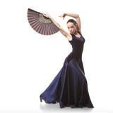 dancingowi flamenco białej kobiety potomstwa zdjęcie royalty free