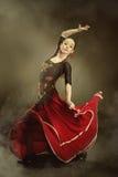 dancingowi flamenco kobiety potomstwa zdjęcia stock